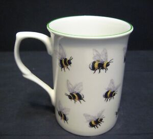 Bees By Mellor Castle shape Fine Bone China Mug Cup beaker