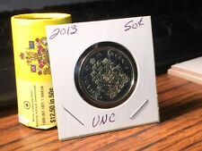Canadian coin 2013 / 50 cent From Mint Roll UNC