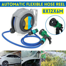 40Ft Garden Hose Reel Retractable Automatic Flexible Beam Ceiling Mount Protect