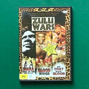 ZULU WARS Shaka King of Zulu Blood River Red Coat Black Blood DVD