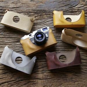 Cam-in Real Leather Half Case Handle fr Leica M6 M7 MP M2 Camera Cover Protector