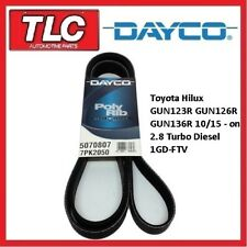 Dayco Fan Belt Hilux GUN123R GUN126R GUN136R 1GD-FTV 2.8 Turbo Diesel 10/15 - on