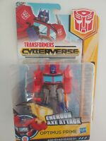 Transformers Cyberverse Warrior Class Optimus Prime Energon Axe Attack