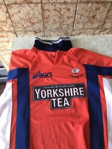 Rare Yorkshire County Cricket Shirt Classic Retro 1999 Size Medium 90s