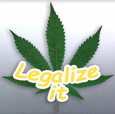 Legalize it weed leaf Vinyl cut Car Sticker 115x100mm aussie made and designed