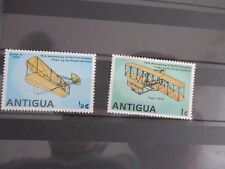 2 TIMBRES STAMPS ANTIGUA THEME AVIONS AVIATION NEUFS