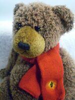 "Sovereign Bank Teddy Bear Plush Scruffy Plush Brown Stuffed Animal Doll 12"""