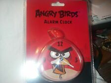 ANGRY BIRDS QUARTZ  ALARM CLOCK SNOOZE BUTTON ROVIO BATTERY NEW