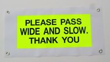 Horse Carriage Hi Viz Road Safety Banner standard size approx 24x12 inches 02-01