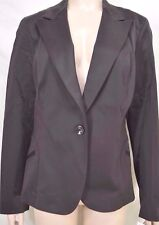 Womyn jacket SZ 12 NWT dark brown lined cotton blend NYC USA retail $311 new