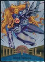 1995 Marvel Metal Silver Flasher Trading Card #26 Spider-Woman