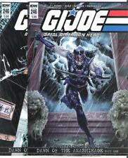 IDW G.I. JOE #246 VARIANT COVER A AND B FIRST PRINTING DAWN! FEMALE SNAKE-EYES!