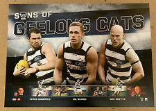 JOEL SELWOOD HAND SIGNED SONS OF GEELONG CATS AFL PRINT ABLETT DANGERFIELD