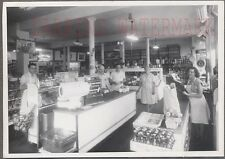 Vintage Photo Men & Women Working in Grocery Store Interior Denver 741682