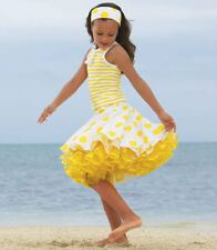 SET 4 5 6 110 116 JOTTUM YELLOW TUTU SKIRT TOP THIRZA TULLE POLKA DOT STRIPED