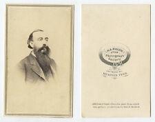 CDV STUDIO PORTRAIT MAN W/ GREAT BEARD FROM MEMPHIS, TENN, BY BALCH