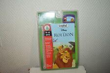 JEU VIDEO + LIVRE INTERACTIF   LE ROI LION DISNEY  LEAP PAD LEAP FROG NEUF
