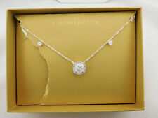 CHARTER CLUB Crystal Pavé Necklace and Earrings Msrp $27.50 *New in original Box