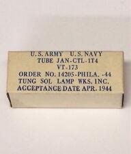 Vintage 1T4 JAN US Army Navy WW2 military radio vacuum tube BC611 repl. NOS box