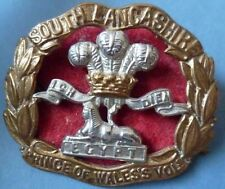 Badge- Prince of Wales's Volunteers (South Lancashire Regiment) Cap Badge (Org*)