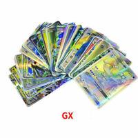 100PCS Pokemon Card Lot Mixed 89 GX + 11 Trainer Holo Flash Trading Cards USA