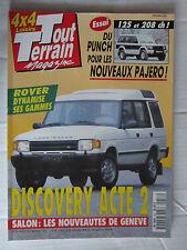 TOUT TERRAIN N° 58 /DISCOVERY/ROVER/PAJERO 125 et 208 ch/SALON de GENEVE