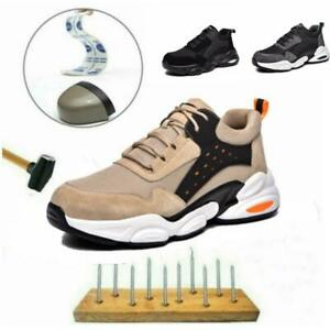 Mens Womens Safety Shoes Lightweight Work Trainers  Steel Toe Cap Hiking Boots