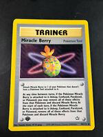 Pokemon - 1st Edition MIRACLE BERRY 94/111 - Neo Genesis - Uncommon - EXC