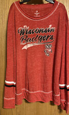Wisconsin Badgers Long-Sleeve Shirt, Womens Size Large
