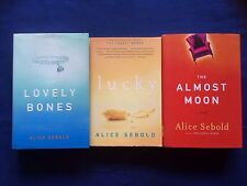 Alice Sebold- LOT OF 3 GREAT NOVELS- TPB/HCDJ