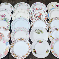JOB LOT OF 4 VINTAGE MISMATCHED CHINA MIX DINNER PLATES TEA PARTY WEDDING FLORAL
