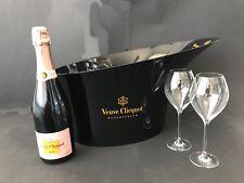 Veuve Clicquot Rose Champagner Flasche 0,75l 12% Vol + Magnum Kühler + 2 Gläser