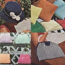 1960s Nylon Ribbon Evening Bag Purse Hat Myart 9 Knitting Crochet Pattern Book