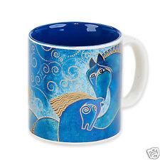Laurel Burch Indigo Blue Horses Ceramic Coffee Tea Artistic Mug 14oz New