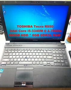 "TOSHIBA Tecra R950_Intel Core i5-3340M@2.70GHz_500GB HDD_8GB RAM_15.6"" Screen"