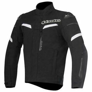 New Men's Alpinestars Pikes Drystar Motorcycle Jacket ~ Black ~XL~ 3207816