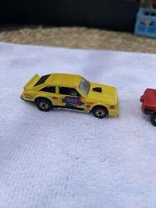 FLAT OUT 442 - Yellow, 1978 Hong Kong Hot Wheels Blackwall Vintage Plus Racer FC