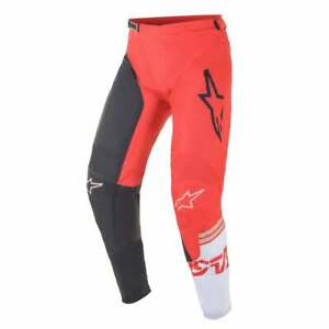 Alpinestars 2021 Adults Racer Compass Motocross Pants - Anthracite/ Red/ White