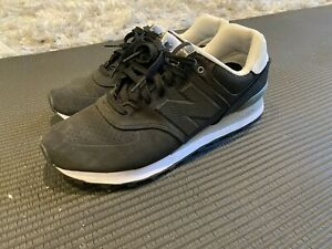 New Balance ML574ACB Paint Chip Black/White Casual Running Mens Shoe Size 10