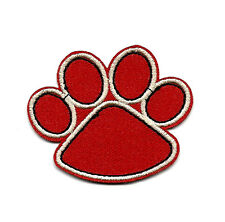 """2X1.75"""" Clifford Big Red Dog RED PUPPY PAW EMBROIDERED IRON ON SEW ON PATCH"""