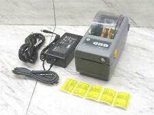 Zebra ZD410 Thermal Label Printer USB Bluetooth w/ Power Supply & USB Cable