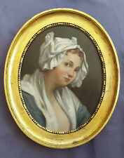 Jean Baptiste Greuze, tableau ancien, cadre ancien, 18eme, 19eme