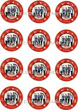 "ONE DIRECTION Edible Rice paper Image Cupcake Toppers 12 x 2"" Birthday Party"