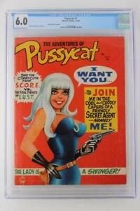 Pussycat #1 - CGC 6.0 FN -Marvel 1968- 40 Cent Variant - Single HIGHEST GRADE!