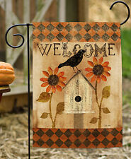 Toland Harlequin Crow 12.5 x 18 Fall Autumn Gothic Welcome Birdhouse Garden Flag