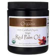 Swanson Red Palm Oil, Certified Organic 16 fl oz (473 ml) Solid Oil
