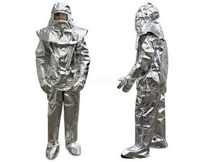 Men's Aluminized 1000°C Heat Insulation Suit Thermal Radiation Protect Work Wear