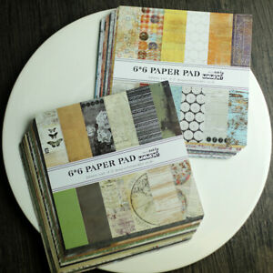 12 Pcs Vintage Paper Pad Scrapbooking DIY Happy Planner Card Journal Project