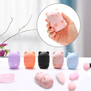 Makeup Sponge Holder Silicone Powder Puff Container Beauty Egg Storage Box Cute