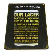 """The Beer Player"" Tin Sign Home Pub Cafe Club Bar Wall Metal Retro Poster Decor"